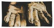 Rising Mummy Hands In Bandage Beach Sheet