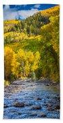 River And Aspens Beach Towel