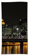 Ohio River Bridges And Louisville Skyline Beach Towel