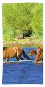 River Crossing Beach Towel