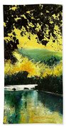 River Houille  Beach Towel