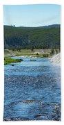 River In Yellowstone Beach Towel
