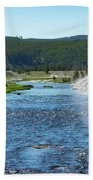 River In Yellowstone Beach Sheet