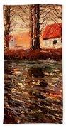 River Landscape Beach Towel
