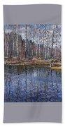 River Landscape Nikolai Petrovich Bogdanov-belsky Beach Towel