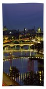 River Liffey Bridges, Dublin, Ireland Beach Towel