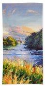 River Moy At Ballina Beach Towel
