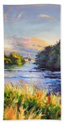 River Moy At Ballina Beach Towel