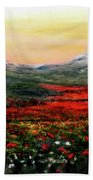 River Of Poppies Beach Towel