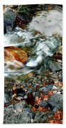 River Rock Leaves Beach Towel