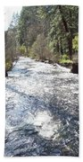 River Runs Through It Beach Towel