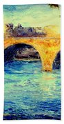 River Seine Bridge Beach Towel