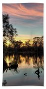 River Sunrise Beach Towel