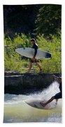 River Surfers Snake River Beach Towel