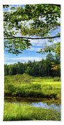River Under The Maple Tree Beach Towel