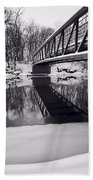 River View B And W Beach Towel