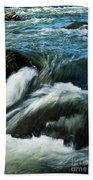 River With Rapids Beach Towel