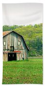 Riverbottom Barn In Spring Beach Towel