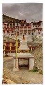 Rizong Monastery Ladakh Jammu And Kashmir India Beach Towel