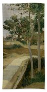 Road From Volterra Beach Towel