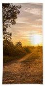 Road In Botswana Beach Towel