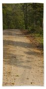 Road In Woods Autumn 2 A Beach Towel