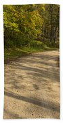 Road In Woods Autumn 3 A Beach Towel