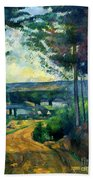 Road Leading To The Lake, By Paul Cezanne, Circa 1880, Kroller-m Beach Towel