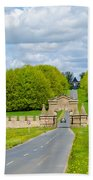 Road To Burghley House-vertical Beach Towel