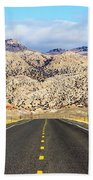 Road To Owl Creek Mountains Wyoming Beach Towel