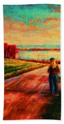Road To Red Gables Beach Towel