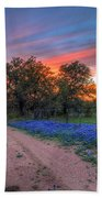 Road To Sunset Beach Towel