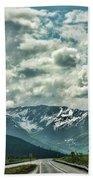 Road Travel Alaska Color  Beach Towel