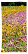 Roadside Flower Garden Beach Towel