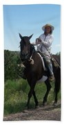 Roadside Horses Beach Towel