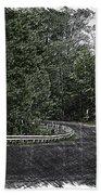 Roadway Fingers Lakes New York Area Pa 02 Beach Towel