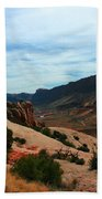 Roadway Rock Formations Arches National Park Beach Towel