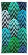 Roaring 20's Turquoise Beach Towel