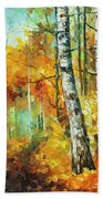 Roaring Birch  Beach Towel
