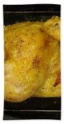 Roasting Half Chicken, 4 Of 4 Beach Towel
