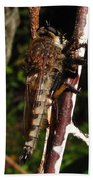 Robber Fly Beach Towel