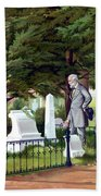 Robert E. Lee Visits Stonewall Jackson's Grave Beach Towel