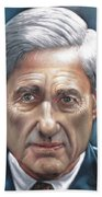 Robert Mueller Portrait , Head Of The Special Counsel Investigation Beach Towel