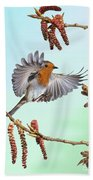 Robin And Poplar Beach Towel