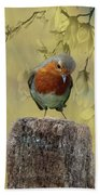 Robin Bird Beach Towel