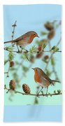 Robins On Larch Beach Towel