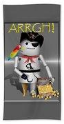 Robo-x9 The Pirate Beach Towel