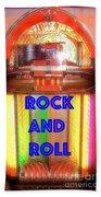Rock And Roll Jukebox Beach Towel