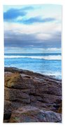 Rock And Wave Beach Towel