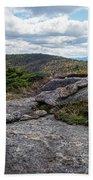 Rock Boundaries On Casecade Mountain Keene Ny New York Beach Towel